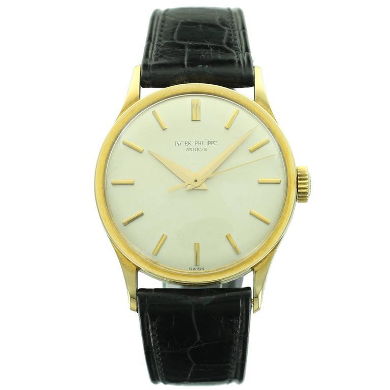 Patek Philippe Yellow Gold Calatrava  Wristwatch Ref 570 1