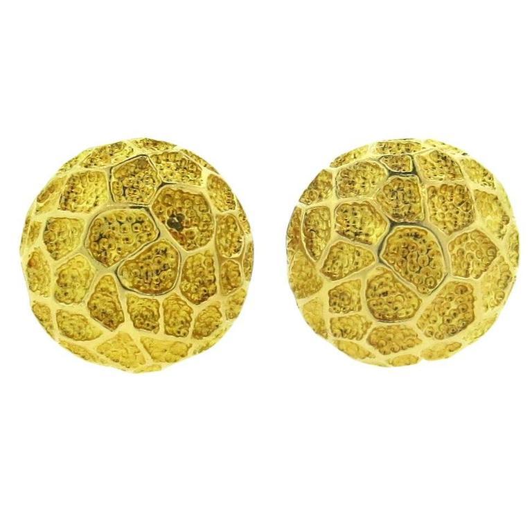 1970s Tiffany & Co. Gold Earrings