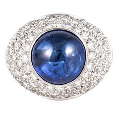Boodles Sapphire Diamond Gold Ring