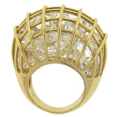 Verdura Caged Crystal Gold Large Dome Ring