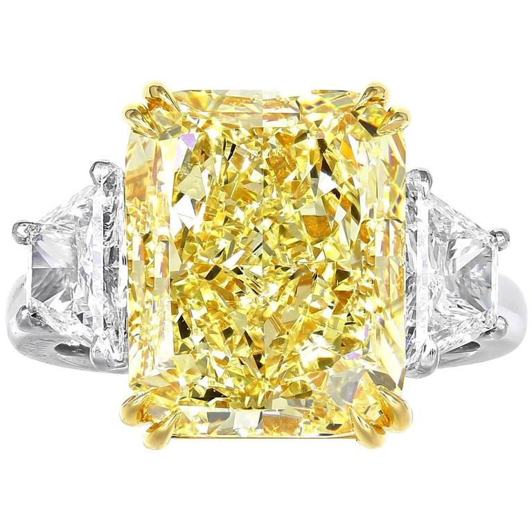 Fabulous 7.18 Carat Fancy Yellow GIA Certified Cushion Cut Diamond  PL42
