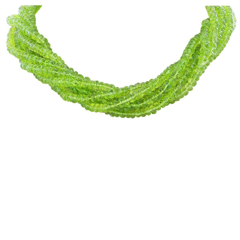 Peridot Six Strand Necklace