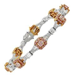 Diamond Two Color Gold Bracelet