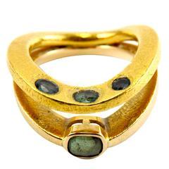 22K Textured Yellow Gold 1970s Biegel Alexandrite Ring