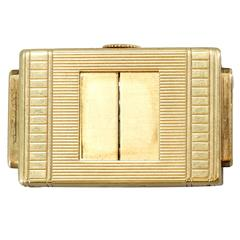 Cartier Yellow Gold Traveling Shutter Watch