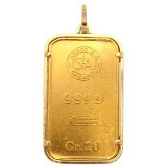 Cartier Gold Bar Pendant
