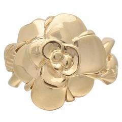 "Chanel ""Camellia"" Gold Ring"