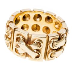 Cartier Gold Stitch Link Ring