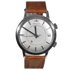 Jaeger-LeCoultre Stainless Steel Memovox Automatic Wristwatch Ref 855