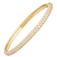 Tiffany & Co. Pave Diamond Gold Bangle Bracelet