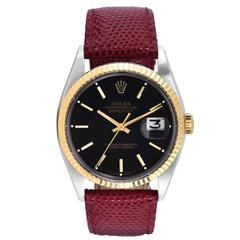 Rolex Vintage Yellow Gold Stainless Steel Oyster Perpetual Datejust Wristwatch