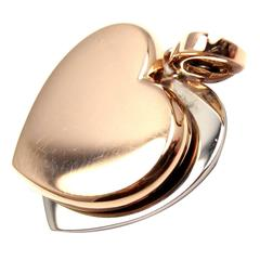 Cartier Two Color Gold Heart Charm Pendant