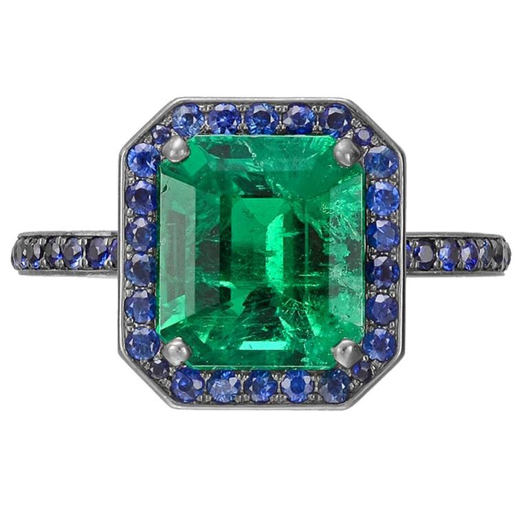 products square engagement sapphire emerald ring natural asscher ct green blue sold cut carat
