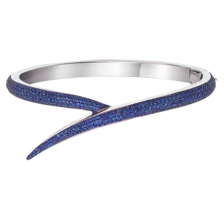 Shaun Leane Entwined Bangle Sapphire Gold Bangle Bracelet