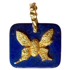"1963 Georges Braque Lapis Lazuli Gold ""Demophon"" Pendant"