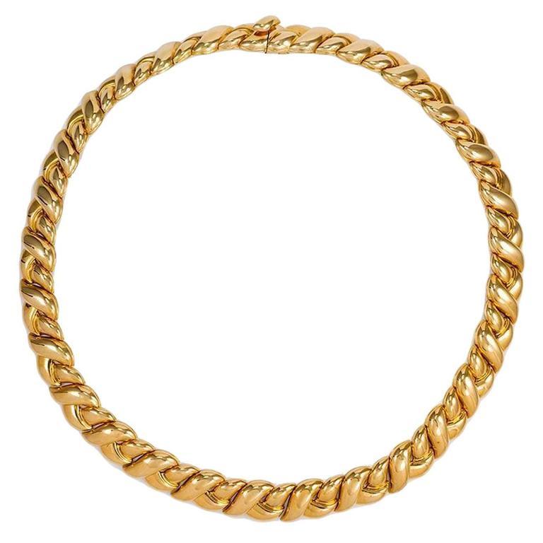 Van Cleef & Arpels Gold Braided Collar Necklace