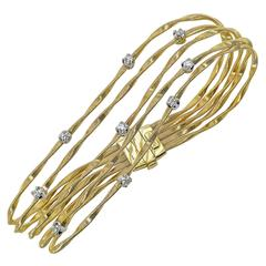 Marco Bicego Marrakech Diamond Gold Five Strand Bracelet