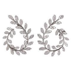 Fabulous Diamond Gold Swirl Earrings