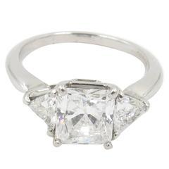 2.04 Carat GIA Cert Diamond Platinum Ring