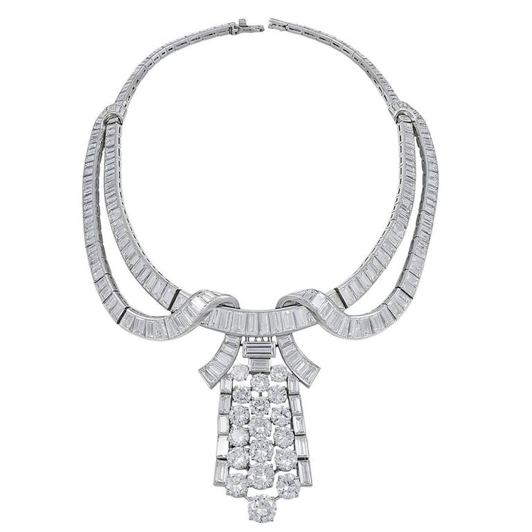 Boucheron Diamond Necklace/Brooch For Sale