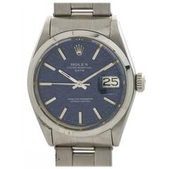 Rolex Stainless Steel Oyster Perpetual Date Wristwatch Ref 1500