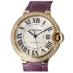 Cartier Yellow Gold Ballon Bleu Automatic Wristwatch Ref W69006