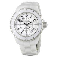 CHANEL J12 Automatic White Ceramic Watch
