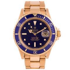 Rolex Yellow Gold Submariner Wristwatch Ref 1680