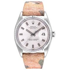 Rolex Vintage Stainless Steel Oyster Perpetual Wide-Boy Datejust Wristwatch