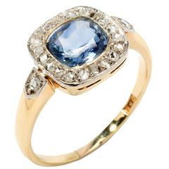 Ceylon Sapphire Diamond Gold Ring