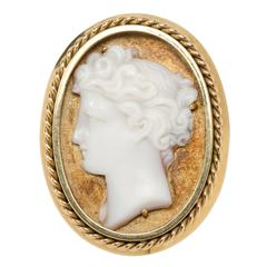 Large Cameo Gold Ring