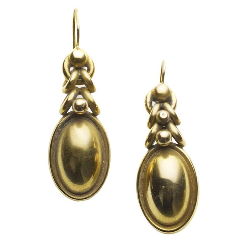Victorian Gold Drop Earrings