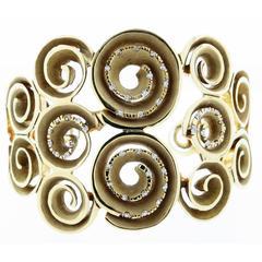 Links of London Diamond Gold Cuff Bracelet