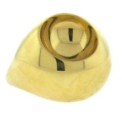 Georg Jensen Large Gold Dome Ring