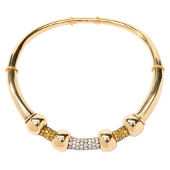 Rene Boivin Diamond Gold Necklace