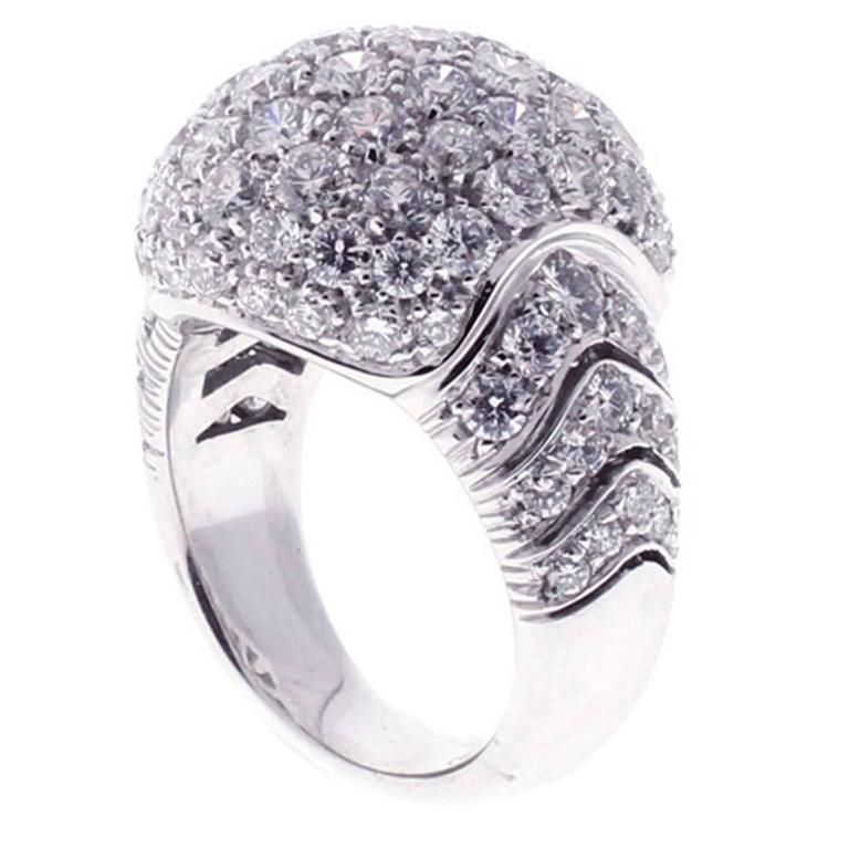 Picchiotti Pave Diamond Gold Dome Ring