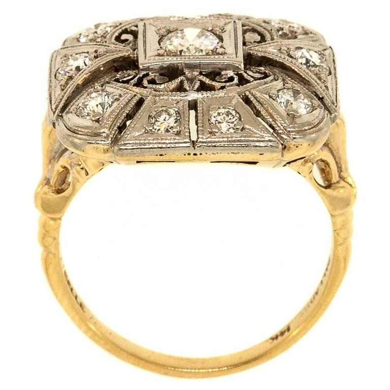 1940s Diamond Palladium Ring 2