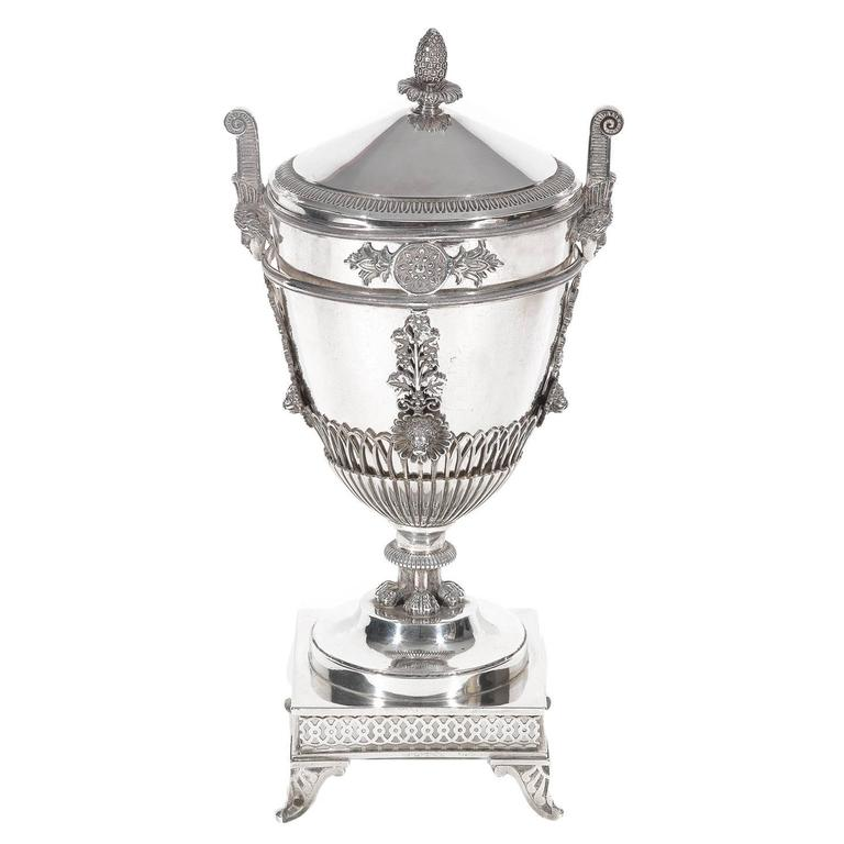 Marc Jacquart Paris Silver Sugar Bowl and Cover, 1789-1809