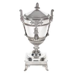 Marc Jacquart Paris Silver Sugar Bowl and Cover, 1789-1809