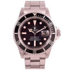 """Rolex Stainless Steel """"NATO"""" Submariner Wristwatch Ref 1680"""