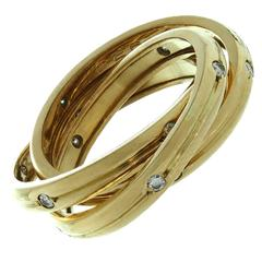 Cartier Trinity Diamond Gold Ring