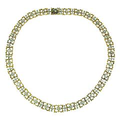 1990s Buccellati Diamond Gold Necklace