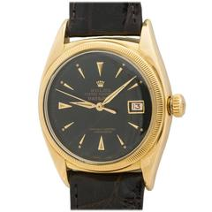 Rolex Yellow Gold Datejust Oyster Perpetual Wristwatch Ref 6105