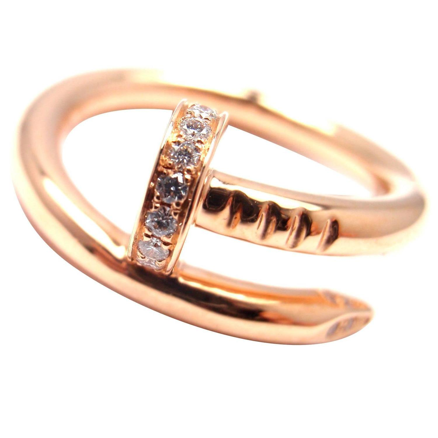 Cartier Juste un Clou Diamond Gold Nail Band Ring For Sale ...
