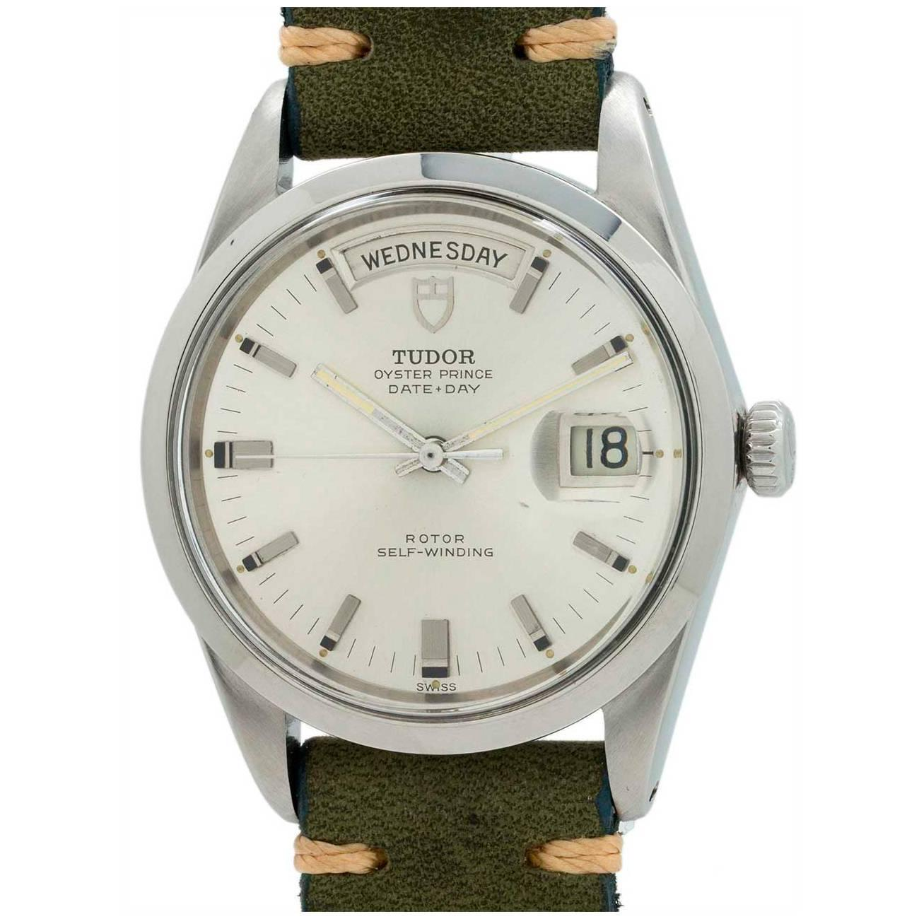 Tudor Classic Platinum: Tudor Oyster Prince Day Date Wristwatch Ref 701710 At 1stdibs