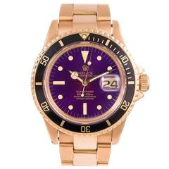 Rolex Yellow Gold Submariner Tropical Intense Color-Change Dial Wristwatch