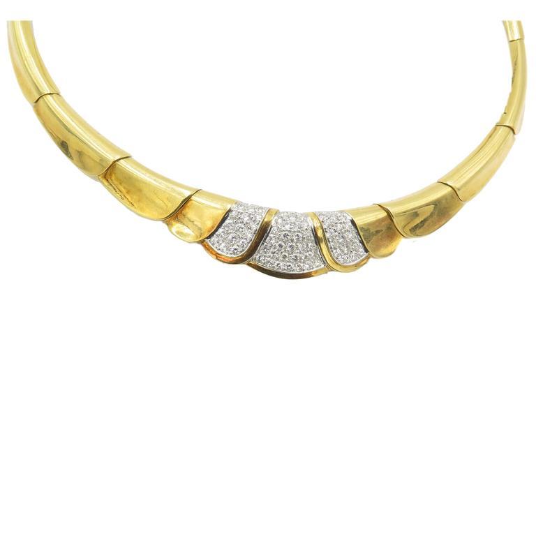 Gorgeous Diamond Gold Necklace.