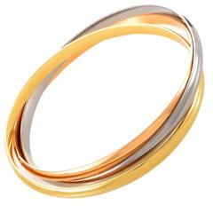 Cartier Trinity Tri-Color Gold Rolling Bangle Bracelet