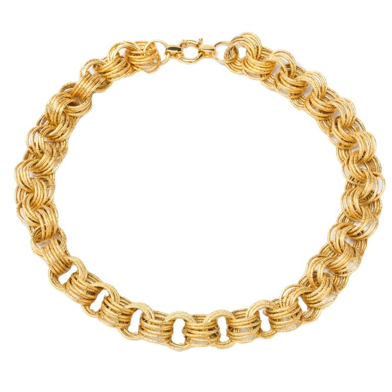 1960s Gold Loop Necklace