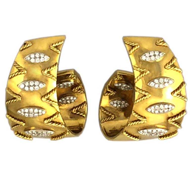 Gold Hoop Earclips
